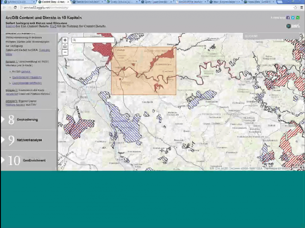 ArcGIS Entwicler Webinar Screenshot
